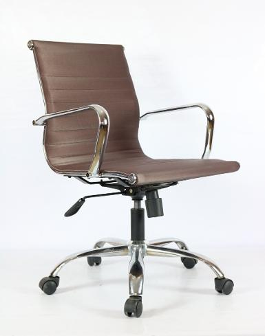 SLIM CHAIR (PU)- BROWN